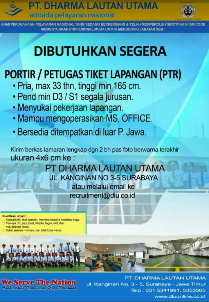 Loker Pt Dharma Lautan Utama 2018